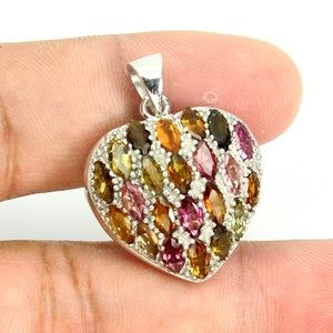 Jewelry - Fancy Colors Tourmaline Heart Pendant